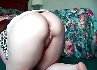 Red-haired fucked by a trained doggy