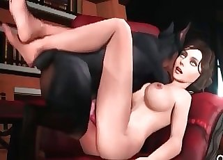 Girlie gets fuck by a animation dog