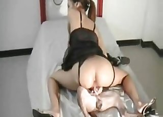 Excellent doggy sucked nicely by bitchy chick